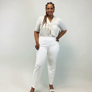 Women's White Dress Pants #262G